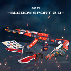"Gift for the gamer Wooden set ""Bloody Sport 2.0"""