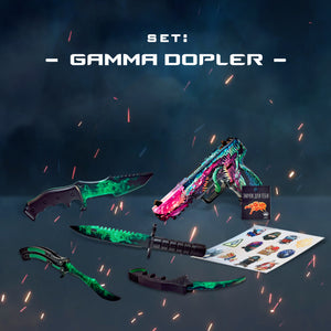 "Gift for the gamer Wooden knives and pistol set ""Gamma Dopler"" Free gifts!"