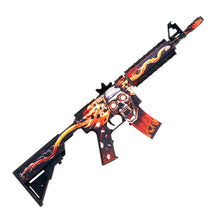 "Load image into Gallery viewer, M4A4 Active ""Killing confirmed"" Automatic Assault Rifle / Wooden Souvenir / Wooden Replica / shoots rubber bands"