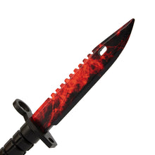 Load image into Gallery viewer, Bayonet M9 Doppler Ruby | wooden training knife replica