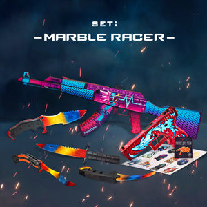 "Gift for the gamer Wooden set ""Marble Racer"""