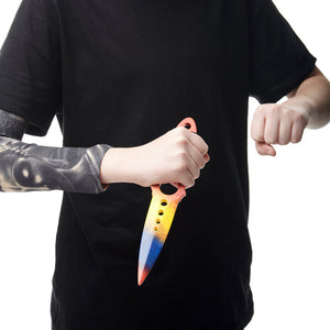 "Skeleton knife in color ""Marble Fade"" gift for gamer Wooden training knife replica"