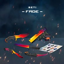 "Load image into Gallery viewer, Gift for the gamer Wooden knives and pistol set ""Fade"" Free gifts!"