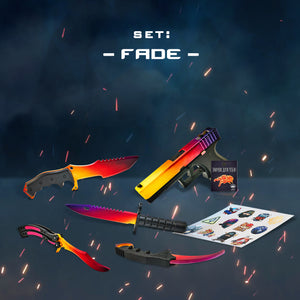 "Gift for the gamer Wooden knives and pistol set ""Fade"" Free gifts!"