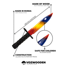 Load image into Gallery viewer, Bayonet M9 Marble Fade | wooden training knife replica