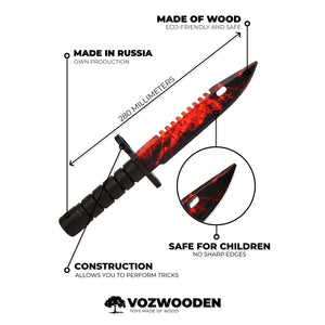 Bayonet M9 Doppler Ruby | wooden training knife replica