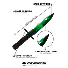 Load image into Gallery viewer, Bayonet M9 Gamma Doppler | wooden training knife replica