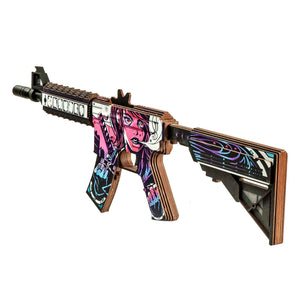 M4A4 Neo Noir | Wooden replica shoots rubber bands
