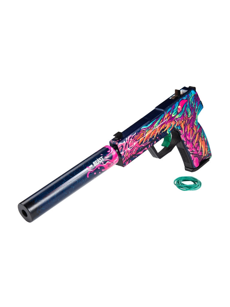 USP-S Hyper Beast | Wooden replica shoots rubber bands
