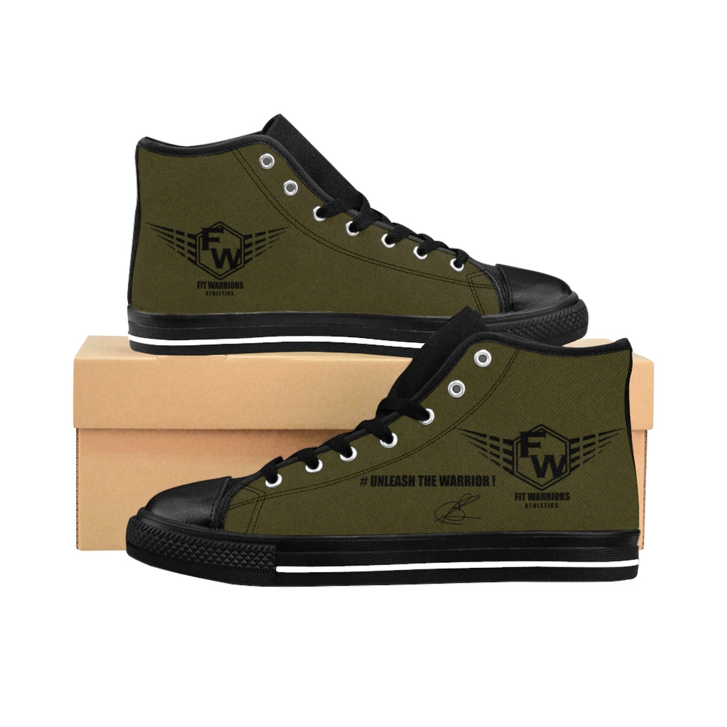 Fit Warriors Athletics ✧ Men's High-top Sneakers ✧ Military Signature Edition