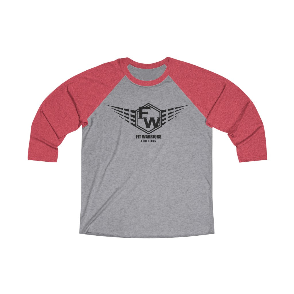 Fit Warriors Athletics ✧ Unisex Tri-Blend 3/4 Raglan Tee