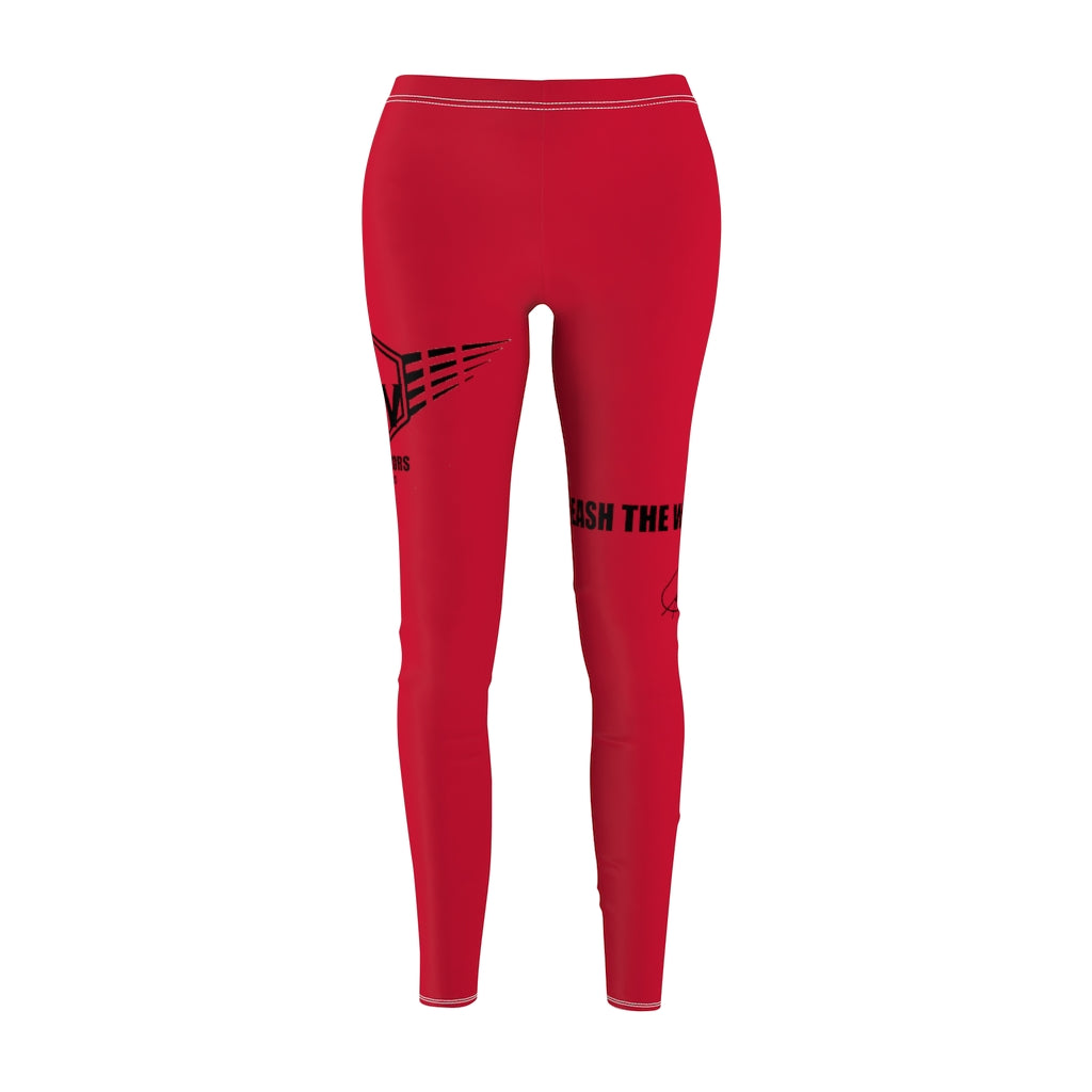 Fit Warriors Athletics ✧ Women's Cut & Sew Casual yoga fitness Red pants