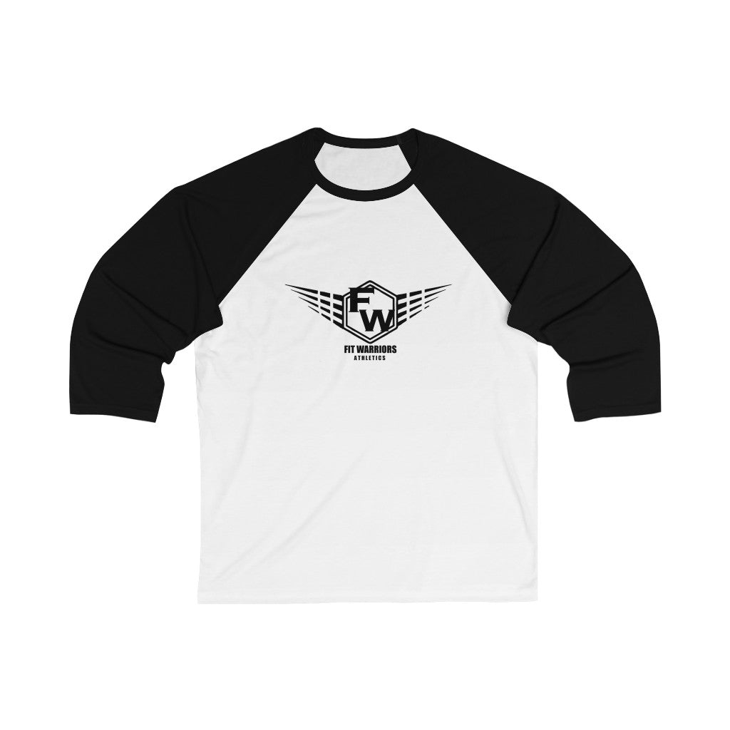 Fit Warriors Athletics ✧ Unisex 3/4 Sleeve Baseball Tee