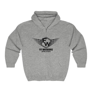 Fit Warriors Athletics ✧ Unisex Heavy Blend™ Full Zip Hooded Sweatshirt