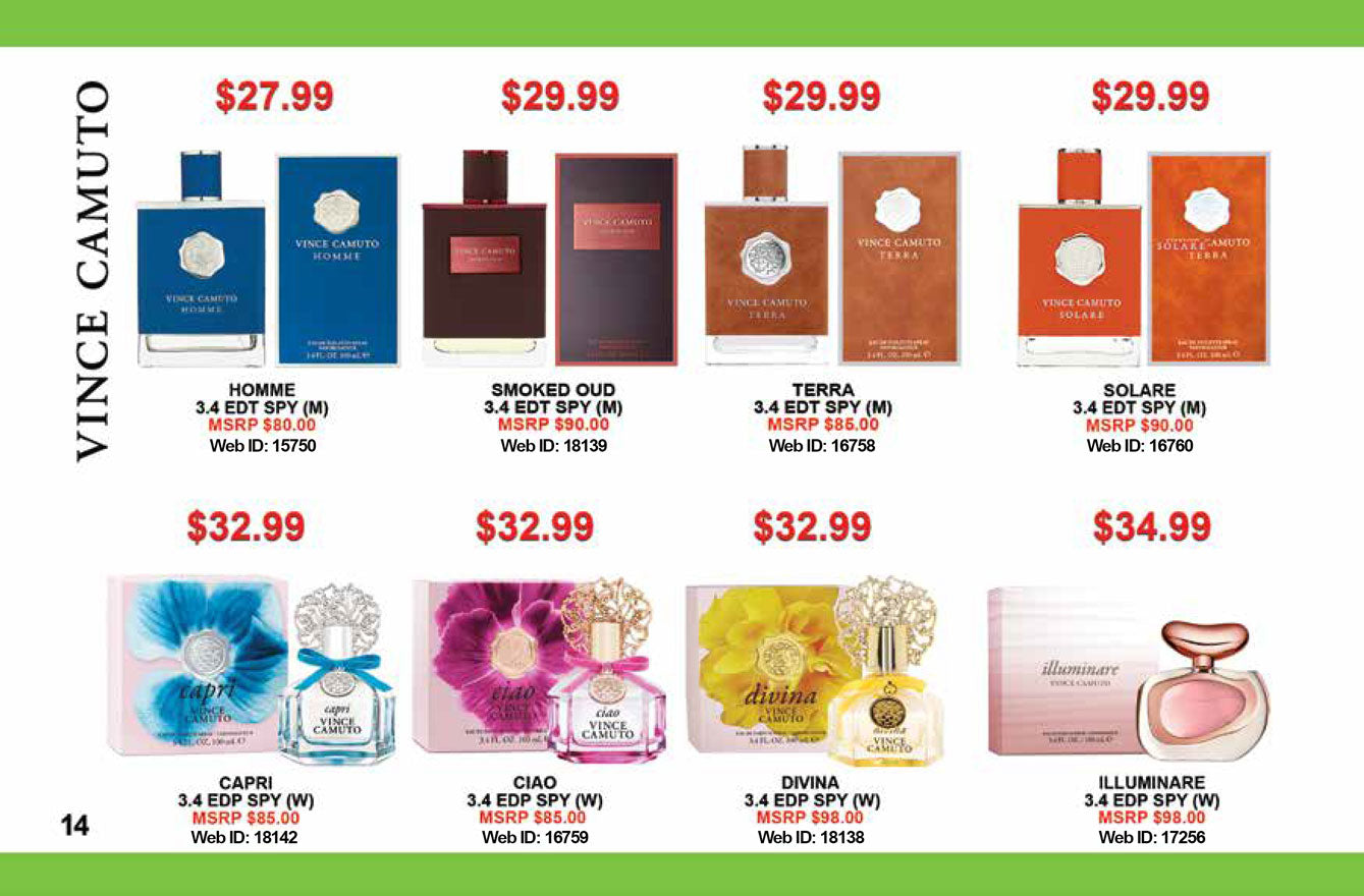 La Mina De Oro Perfumes SALE, Vince Camuto perfumes for women, men and gift sets sale