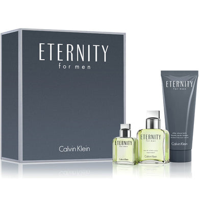 Eternity for Men by Calvin Klein 3-piece Gift Set - Eau De Toilette, After Shave Balm & Travel Spray