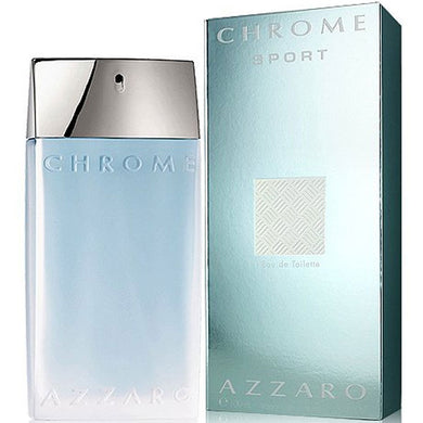 Azzaro Chrome Sport for Men Eau De Toilette – 3.4 oz Perfume for Men