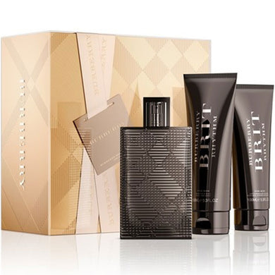 Burberry Brit for Men by Burberry 3-piece Gift Set - Eau De Toilette, After Shave & Body Wash perfume for men