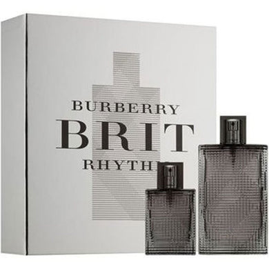 Burberry Brit Rhythm for Men by Burberry 2-piece Gift Set - Eau De Toilette & Travel Spray perfume for men