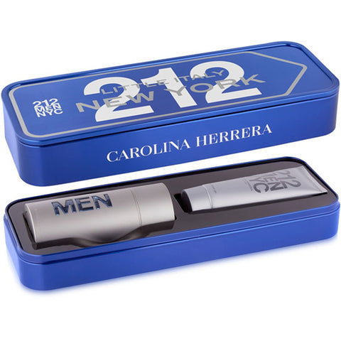 Carolina Herrera - 212 NYC for Men 2pc EDT Tin Gift Set-laminadeoro.com