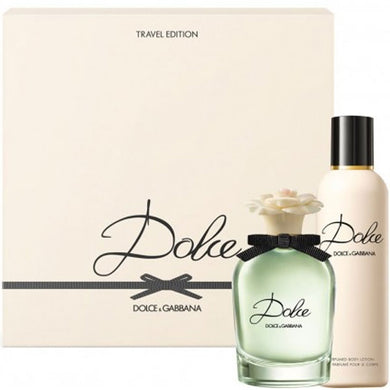 D&G Dolce for Women 2-piece Gift Set by Dolce Gabbana - Eau De Parfum & Body Lotion (Travel Edition)