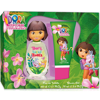 Dora & Boots by Dora the Explorer Kids Fragrance with 3D Cap 2-piece Gift Set - Eau De Toilette & Shower Gel