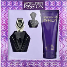 Load image into Gallery viewer, Passion for Women by Elizabeth Taylor 3-piece Gift Set - Eau De Toilette, Body Lotion & Travel Spray fragrance for women