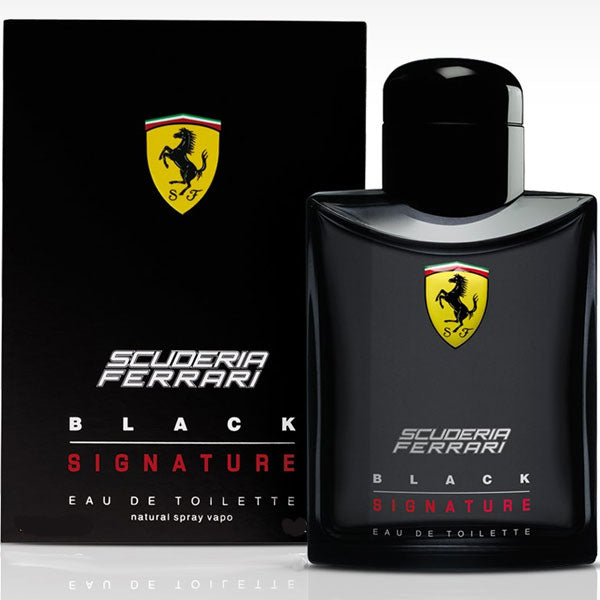 Ferrari Scuderia Signature Black for Men Eau De Toilette - 1.3 oz Perfume for Men