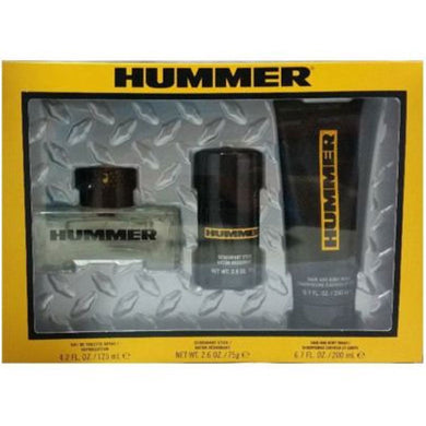 Hummer Yellow for Men 3-piece Gift Set - Eau De Toilette, Body Wash & Deodorant Stick