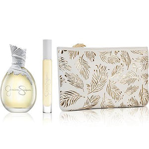 Jessica Simpson Ten for Women 3-piece Gift Set - Eau De Parfum 3.4 oz, Fragrance Rollerball & Makeup Pouch