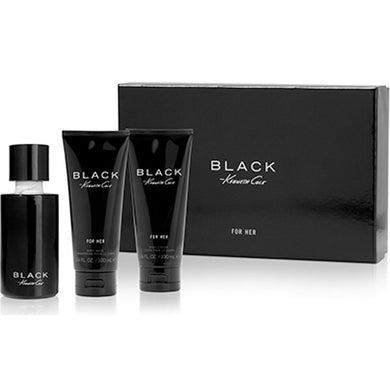 Kenneth Cole Black for Women 3-piece Gift Set - Eau De Parfum, Body Lotion & Shower Gel