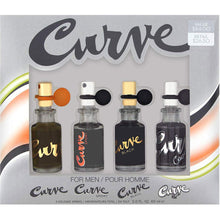 Load image into Gallery viewer, Curve Classic for Men by Liz Claiborne Mini Coffret Variety Set – 4-piece Collection (Curve, Curve Sport, Curve Black & Curve Crush)