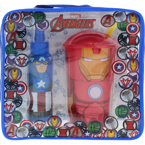 Marvel - Captain America Body Spray & Iron Man Lunch Tote Gift Set-laminadeoro.com