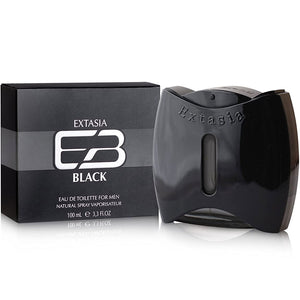 Extasia Black for Men by New Brand Parfums Eau De Toilette - 3.4 oz perfume for men