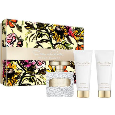 Bella Blanca for Women by Oscar De La Renta 3-piece Gift Set - Eau De Parfum, Body Lotion & Shower Gel