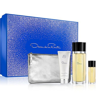 Oscar for Women by Oscar De La Renta 4-piece Gift Set - Eau De Toilette, Body Lotion, Mini Travel Spray & Makeup Pouch