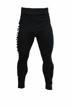 Load image into Gallery viewer, BRAND LOGO ZIPPER LEGGINGS BLACK