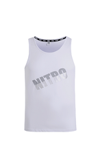 Load image into Gallery viewer, Nitro Contrast Logo Tank Top White