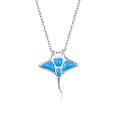 Turquoise Manta Ray Necklace