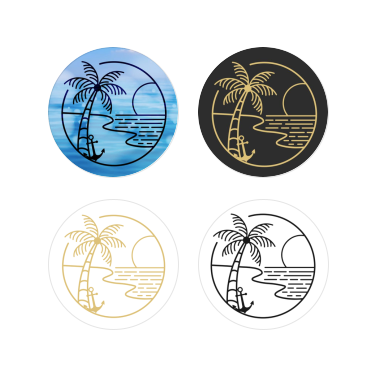Palm & Anchor 4 Pack Stickers