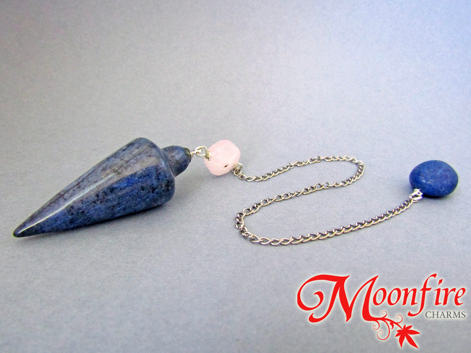 Blue Aventurine, Rose Quartz and Sodalite Teardrop Pendulum GP-025