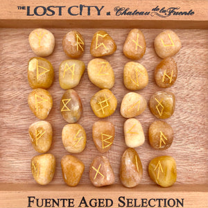 Golden Quartz Elder Futhark Rune Set