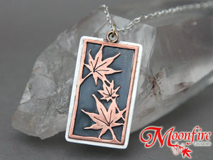 Aki Momiji Mixed Metals Pendant Necklace