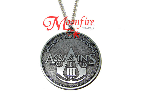 ASSASSIN'S CREED History is Our Playground Pendant Necklace