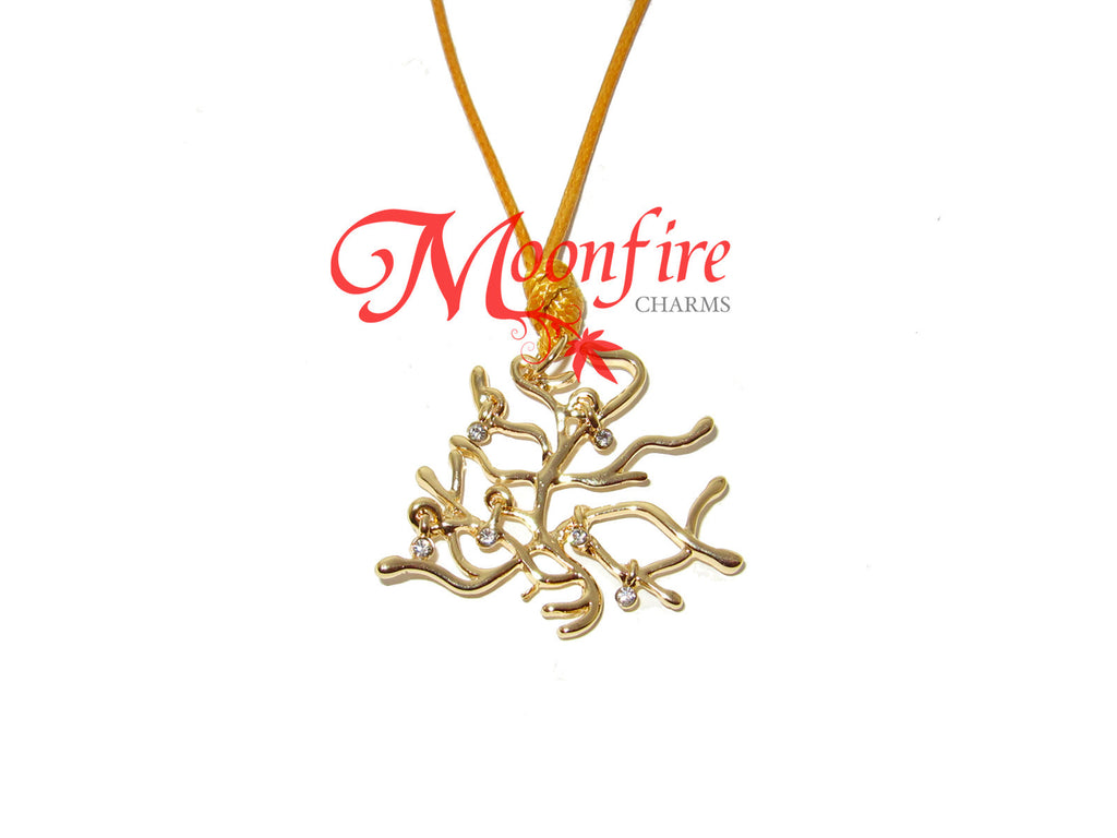 BEAUTY AND THE BEAST Enchanted Tree Pendant Necklace