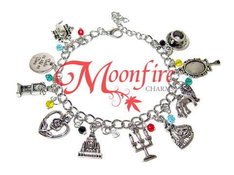 BEAUTY AND THE BEAST Fandom Charm Bracelet