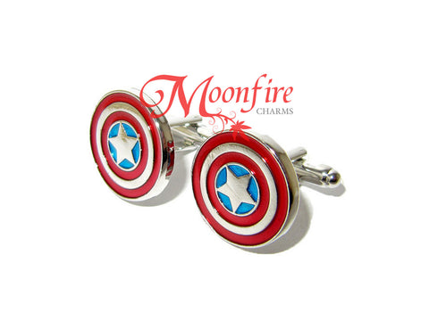 THE AVENGERS Captain America Shield Cufflinks