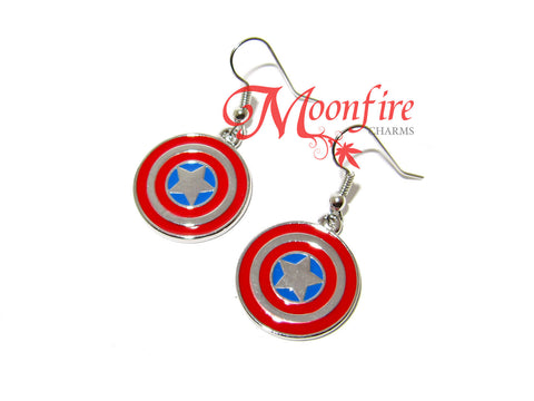THE AVENGERS Captain America Shield Earrings