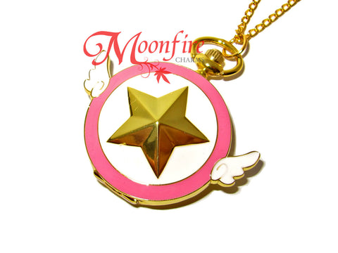 CARDCAPTOR SAKURA Star Wand Pocket Watch Necklace