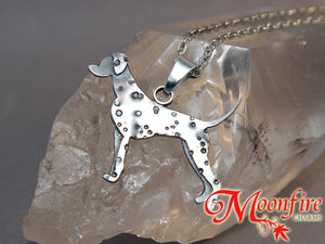 Dalmatian Pride Sterling Silver Pendant Necklace
